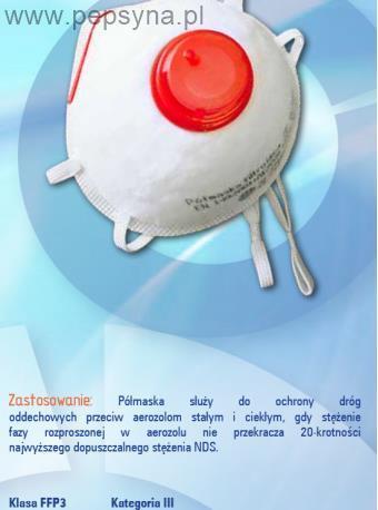 Półmaska filtrująca EP35z FFP3