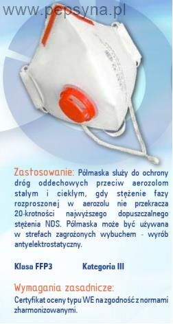 Półmaska filtrująca EP27z FFP3